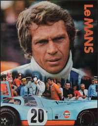 """Le Mans (Cinema Center, 1971). Rolled, Very Fine. Gulf Promotional Poster (17"""" X 22""""). Sports"""