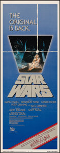 """Movie Posters:Science Fiction, Star Wars (20th Century Fox, R-1982). Rolled, Very Fine-. Insert (14"""" X 36""""). Science Fiction.. ..."""