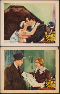 """Movie Posters:Mystery, A Shriek in the Night (Allied Pictures, 1933). Fine/Very Fine. Lobby Cards (2) (11"""" X 14""""). Mystery.. ... (Total: 2 Items)"""