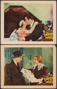 """A Shriek in the Night (Allied Pictures, 1933). Fine/Very Fine. Lobby Cards (2) (11"""" X 14""""). Mystery. ... (Tota..."""