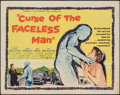 """Movie Posters:Horror, Curse of the Faceless Man (United Artists, 1958). Folded, Fine/Very Fine. Half Sheet (22"""" X 28""""). Horror.. ..."""