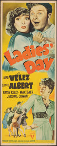 """Movie Posters:Comedy, Ladies' Day (RKO, 1943). Fine on Cardstock. Insert (14"""" X 36""""). Comedy.. ..."""