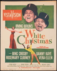 """White Christmas (Paramount, 1954). Folded, Fine. Trimmed Window Card (14"""" X 17""""). Musical"""