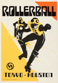 """Movie Posters:Science Fiction, Rollerball (United Artists, 1975). Rolled, Very Fine+. Match Posters Set of 3 (20.75"""" X 29.5""""). Bob Peak Artwork.. ... (Total: 3 Items)"""