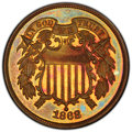 1868 2C PR65 Red and Brown PCGS. CAC. PCGS Population: (52/28). NGC Census: (40/28). CDN: $1,000 Whsle. Bid for NGC/PCGS...