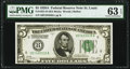 Fr. 1951-H $5 1928A Federal Reserve Note. PMG Choice Uncirculated 63 EPQ