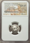 Ancients: LOWER DANUBE. Imitating Alexander III the Great (336-323 BC). AR drachm (19mm, 7h). NGC Choice VF