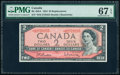 Canada Bank of Canada $2 1954 Pick 76br BC-38bA Replacement PMG Superb Gem Unc 67 EPQ