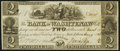 Obsoletes By State:Michigan, Ann Arbor, MI- Bank of Washtenaw $2 Mar. 9, 1836 Choice About Uncirculated.. ...