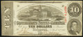 Confederate Notes:1863 Issues, T59 $10 1863 Extremely Fine, CC.. ...