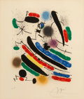 Prints & Multiples, Joan Miró (1893-1983). Untitled, from Miro Lithographs I, 1972. Lithograph in colors on Arches paper. 17-3/4 x 14-1/...