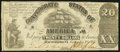 Confederate Notes:1861 Issues, T18 $20 1861 Very Good-Fine.. ...
