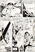 Original Comic Art:Panel Pages, Herb Trimpe and Jack Abel Incredible Hulk #180 Story Page 6 Original Art (Marvel, 1974)....