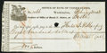 Washington, DC - Office of Discount and Deposit of the Bank of the United States at Boston $800 Feb. 20, 1833 Very Fine...