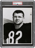 Football Collectibles:Photos, 1961 Mike Ditka Original Photograph Used for 1962 Topps Rookie Card, PSA/DNA Type 1. ...