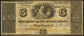 Obsoletes By State:Louisiana, New Orleans, LA- Citizens' Bank of Louisiana $100 18__ Remainder Choice Crisp Uncirculated.. ...