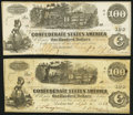 Confederate Notes:1862 Issues, T39 $100 1862 XF;. T40 $100 1862 Fine.. ... (Total: 2 notes)