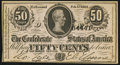 Confederate Notes:1864 Issues, T72 50 Cents 1864 Choice About Uncirculated.. ...