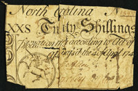 North Carolina April 4, 1748 20s Very Good-Fine