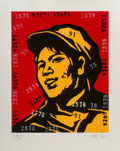 Prints & Multiples, Wang Guangyi (Chinese, b. 1957). Belief Girl No. 6,, 2006. Lithograph in colors on paper. 24-3/4 x 19-3/4 inches (62.9 x...