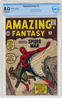 Amazing Fantasy #15 (Marvel, 1962) CBCS VF 8.0 Off-white to white pages