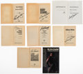Football Collectibles:Others, Football Legends Signed Books, Lot of 12....