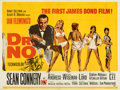 "Movie Posters:James Bond, Dr. No (United Artists, 1962). Folded, Very Fine-. British Quad (30"" X 40""). Mitchell Hooks Artwork.. ..."
