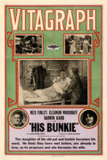 Movie Posters:Drama, His Bunkie (Vitagraph, 1915). Fine- on Linen. One ...