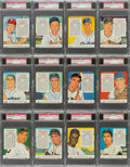 Baseball Cards:Sets, 1955 Red Man - National League PSA Graded NM-MT 8 Near Set (19). ...