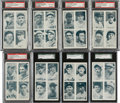Baseball Cards:Sets, 1936 Exhibit 4 on 1 PSA-Graded Collection (11). ...
