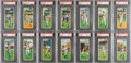 Baseball Cards:Sets, 1955 Topps Doubleheaders PSA-Graded Partial Set (42/66). ...