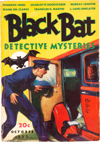 Black Bat Detective Mysteries - October 1933 (Berryman Press) Condition: VG+