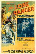 Movie Posters:Serial, The Lone Ranger (Republic, 1938). Fine/Very Fine on Linen....