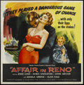 "Movie Posters:Crime, Affair in Reno (Republic, 1957). Six Sheet (81"" X 81""). Crime...."