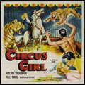 "Movie Posters:Adventure, Circus Girl (Republic, 1956). Six Sheet (81"" X 81""). Adventure...."