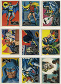Memorabilia:Trading Cards, Batman Orange Back, Black Bat Trading Card Set (Topps, 1966)....