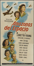 "Movie Posters:War, Ladies Courageous (Universal, 1944). Spanish Language Three Sheet(41"" X 81""). War...."