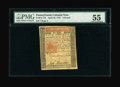 Colonial Notes:Pennsylvania, Pennsylvania April 10, 1775 L5 PMG About Uncirculated 55....