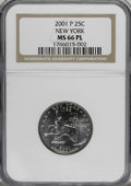 Statehood Quarters, 2001-P 25C New York Prooflike MS66 NGC. NGC Census: (139/107). PCGS Population (644/2011). Numismedia Wsl. Price for NGC/P...