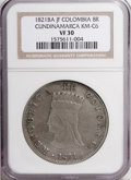 Colombia, Colombia: Republic-Cundinamarca 8 Reales 1821Ba-JF,...