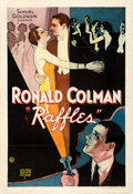 """Movie Posters:Mystery, Raffles (United Artists, 1930). Fine+ on Linen. One Sheet (28"""" X 41"""").. ..."""