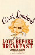 """Movie Posters:Comedy, Love Before Breakfast (Universal, 1936). Good on Cardstock. Window Card (14"""" X 22"""").. ..."""