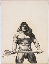Dan Adkins - Conan Illustration Original Art (c. 1978)