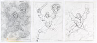 Joe Jusko, George Perez, and others - Preliminary and Sketch Original Art Group of 6 (1998-2006).... (Total: 6 Original...