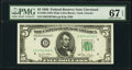 Fr. 1961-D $5 1950 Federal Reserve Note. PMG Superb Gem Unc 67 EPQ