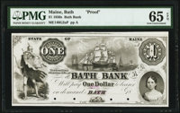 Bath, ME- Bath Bank $1 18__ as G2a Wait 3 Proof PMG Gem Uncirculated 65 EPQ