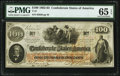 Confederate Notes:1862 Issues, T41 $100 1862 PMG Gem Uncirculated 65 EPQ.. ...