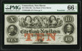 New Haven, CT- City Bank of New Haven $10 18__ Remainder G68b PMG Gem Uncirculated 66 EPQ