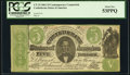 Confederate Notes:1861 Issues, CT33/250F Contemporary Counterfeit $5 1861 PCGS About New 53PPQ.. ...
