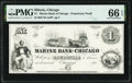 Chicago, IL- Marine Bank of Chicago $1 186_ Proprietary Proof PMG Gem Uncirculated 66 EPQ